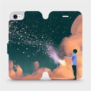 Flipové pouzdro Mobiwear na mobil Apple iPhone 8 - VA14P Postava s lampou