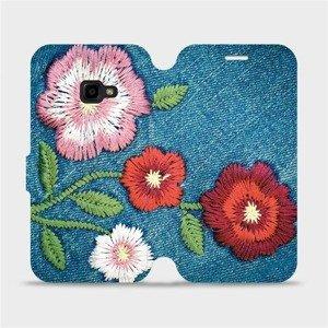 Flipové pouzdro Mobiwear na mobil Samsung Xcover 4 - MD05P Džínové květy