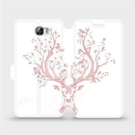 Flipové pouzdro Mobiwear na mobil Huawei Y5 II - M007S Růžový jelínek