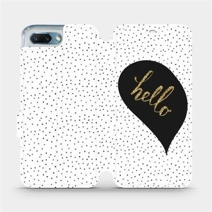 Flipové pouzdro Mobiwear na mobil Honor 10 - M013P Golden hello