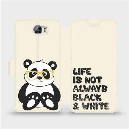 Flipové pouzdro Mobiwear na mobil Huawei Y6 II Compact - M041S Panda - life is not always black and white