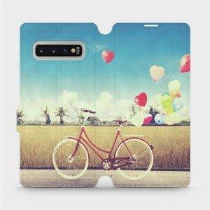 Flipové pouzdro Mobiwear na mobil Samsung Galaxy S10 Plus - M133P Kolo a balónky