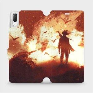 Flipové pouzdro Mobiwear na mobil Sony Xperia L3 - MA06S Postava v ohni