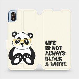Flipové pouzdro Mobiwear na mobil Xiaomi Redmi 7A - M041S Panda - life is not always black and white