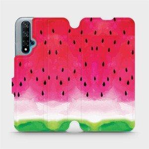 Flipové pouzdro Mobiwear na mobil Huawei Nova 5T - V086S Melounek