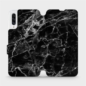 Flipové pouzdro Mobiwear na mobil Samsung Galaxy A30s - V056P Černý mramor