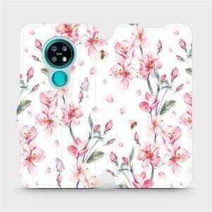 Flipové pouzdro Mobiwear na mobil Nokia 7.2 - M124S Růžové květy