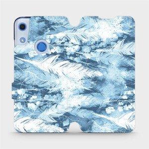 Flipové pouzdro Mobiwear na mobil Huawei Y6S - M058S Světle modrá horizontální pírka