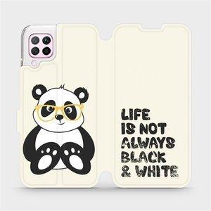 Flipové pouzdro Mobiwear na mobil Huawei P40 Lite - M041S Panda - life is not always black and white