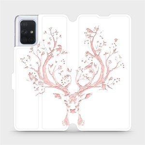 Flipové pouzdro Mobiwear na mobil Samsung Galaxy A71 - M007S Růžový jelínek