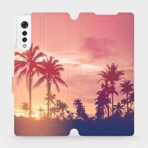 Flipové pouzdro Mobiwear na mobil LG Velvet - M134P Palmy a růžová obloha