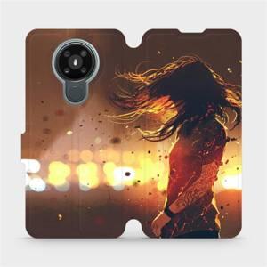 Flipové pouzdro Mobiwear na mobil Nokia 3.4 - MA02S Tetovaná dívka