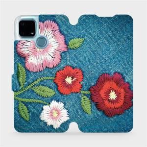 Flip pouzdro Mobiwear na mobil Realme 7i - MD05P Džínové květy