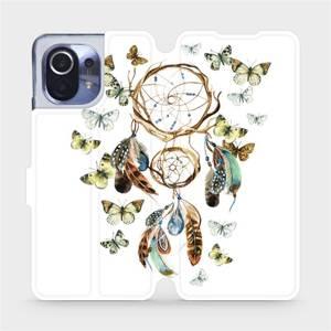 Parádní flip pouzdro Mobiwear na mobil Xiaomi Mi 11 - M001P Lapač a motýlci