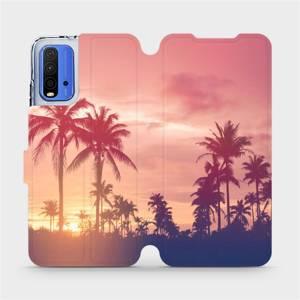 Flipové pouzdro Mobiwear na mobil Xiaomi Redmi 9T - M134P Palmy a růžová obloha