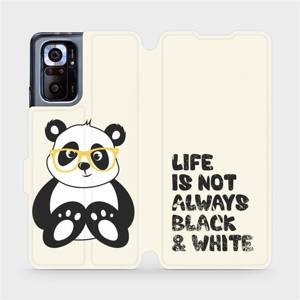 Flipové pouzdro Mobiwear na mobil Xiaomi Redmi Note 10 Pro - M041S Panda - life is not always black and white