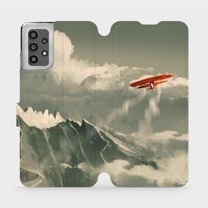 Flip pouzdro Mobiwear na mobil Samsung Galaxy A32 LTE - MA03P Oranžové letadlo v horách