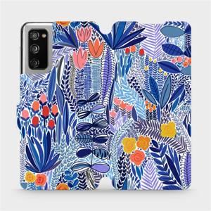 Flip pouzdro Mobiwear na mobil Samsung Galaxy S20 FE - MP03P Modrá květena