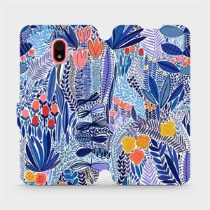 Flip pouzdro Mobiwear na mobil Xiaomi Redmi 8A - MP03P Modrá květena