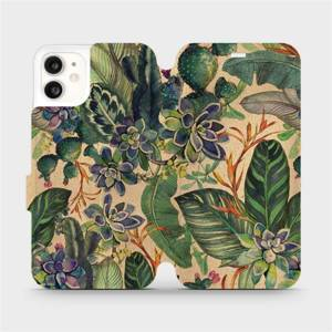 Flip pouzdro Mobiwear na mobil Apple iPhone 11 - VP05S Sukulenty
