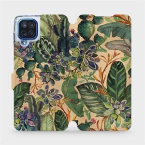 Flip pouzdro Mobiwear na mobil Samsung Galaxy M12 - VP05S Sukulenty