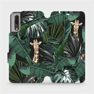 Flip pouzdro Mobiwear na mobil Huawei P20 - VP06P Žirafky
