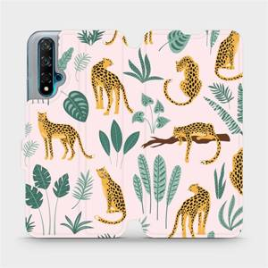 Flip pouzdro Mobiwear na mobil Huawei Nova 5T - MP07S Leopardi