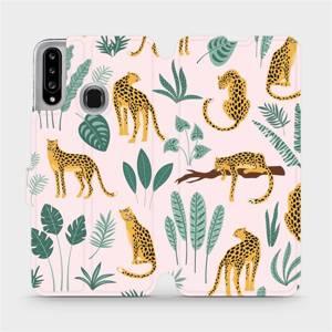 Flip pouzdro Mobiwear na mobil Samsung Galaxy A20S - MP07S Leopardi