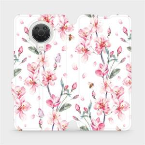 Flip pouzdro Mobiwear na mobil Nokia G20 - M124S Růžové květy