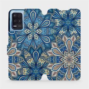 Flip pouzdro Mobiwear na mobil Realme 8 5G - V108P Modré mandala květy