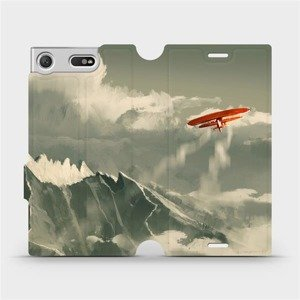 Flipové pouzdro Mobiwear na mobil Sony Xperia XZ1 Compact - MA03P Oranžové letadlo v horách