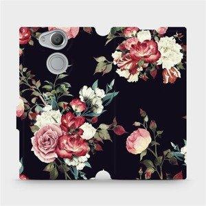 Flipové pouzdro Mobiwear na mobil Sony Xperia XA2 - VD11P Růže na černé