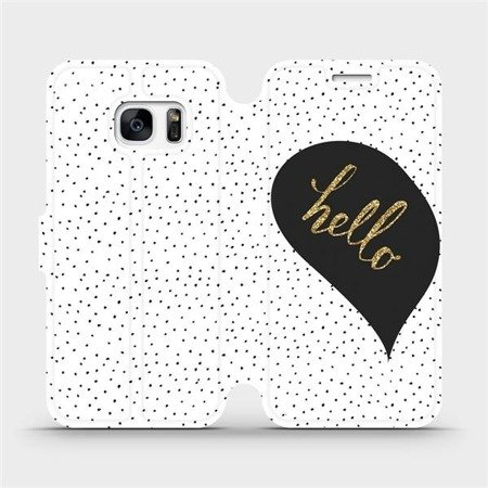 Flipové pouzdro Mobiwear na mobil Samsung Galaxy S7 Edge - M013P Golden hello