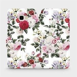 Flipové pouzdro Mobiwear na mobil Samsung Galaxy J4 Plus 2018 - MD01S Růže na bílé