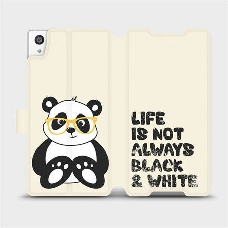 Flipové pouzdro Mobiwear na mobil Sony Xperia Z5 - M041S Panda - life is not always black and white