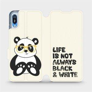 Flipové pouzdro Mobiwear na mobil Huawei Y6 2019 - M041S Panda - life is not always black and white