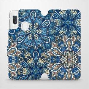 Flipové pouzdro Mobiwear na mobil Samsung Galaxy A20e - V108P Modré mandala květy