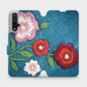 Flipové pouzdro Mobiwear na mobil Honor 20 - MD05P Džínové květy