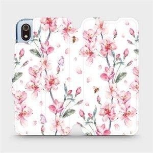 Flipové pouzdro Mobiwear na mobil Xiaomi Redmi 7A - M124S Růžové květy