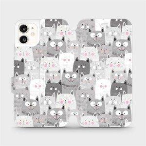Flipové pouzdro Mobiwear na mobil Apple iPhone 11 - M099P Kočičky