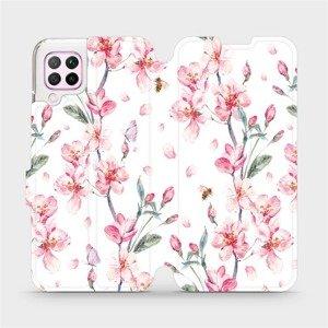 Flipové pouzdro Mobiwear na mobil Huawei P40 Lite - M124S Růžové květy
