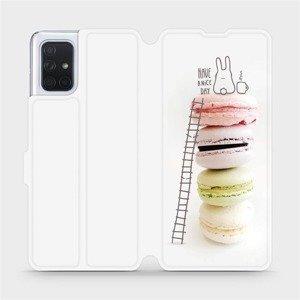 Flipové pouzdro Mobiwear na mobil Samsung Galaxy A71 - M090P Makronky - have a nice day