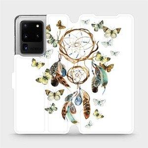 Flipové pouzdro Mobiwear na mobil Samsung Galaxy S20 Ultra - M001P Lapač a motýlci