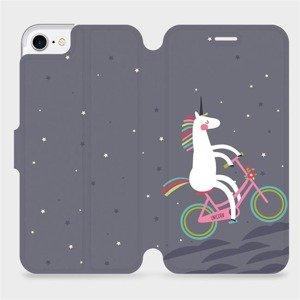 Flipové pouzdro Mobiwear na mobil Apple iPhone SE 2020 - V024P Jednorožec na kole