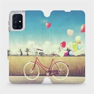 Flipové pouzdro Mobiwear na mobil Samsung Galaxy M31s - M133P Kolo a balónky