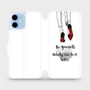Flipové pouzdro Mobiwear na mobil Apple iPhone 12 mini - M046P Be yourself