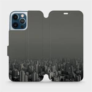 Flipové pouzdro Mobiwear na mobil Apple iPhone 12 Pro Max - V063P Město v šedém hávu