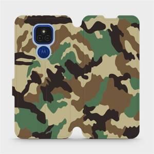 Flipové pouzdro Mobiwear na mobil Motorola Moto E7 Plus - V111P Maskáče