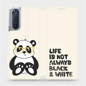 Flipové pouzdro Mobiwear na mobil Sony Xperia 5 II - M041S Panda - life is not always black and white