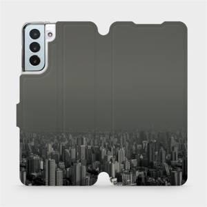 Flipové pouzdro Mobiwear na mobil Samsung Galaxy S21 Plus 5G - V063P Město v šedém hávu